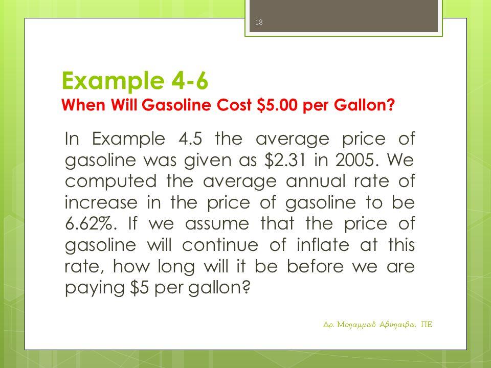 Example 4-6 When Will Gasoline Cost $5.00 per Gallon