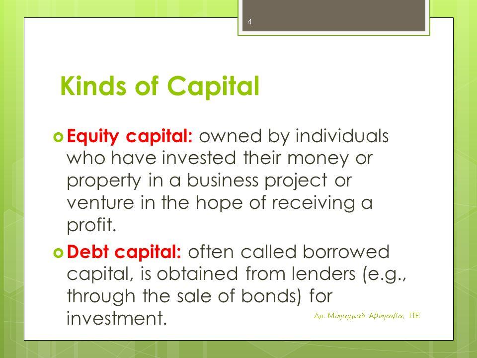 Kinds of Capital