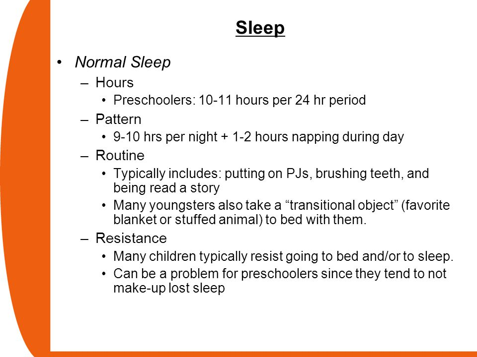 Sleep Normal Sleep Hours Pattern Routine Resistance