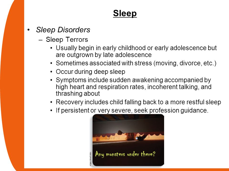 Sleep Sleep Disorders Sleep Terrors