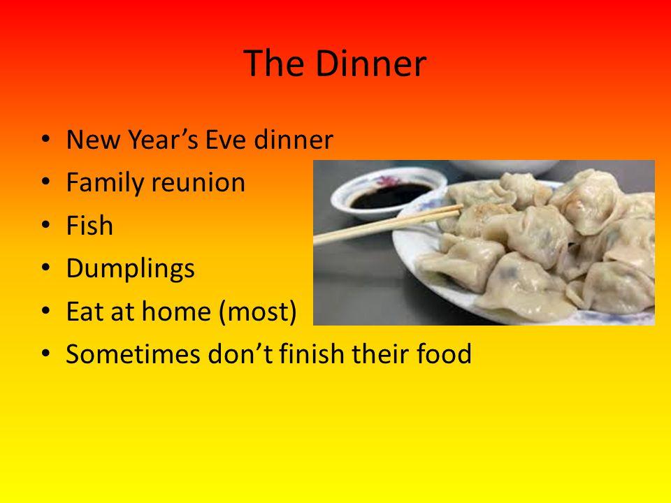 The Dinner New Year's Eve dinner Family reunion Fish Dumplings