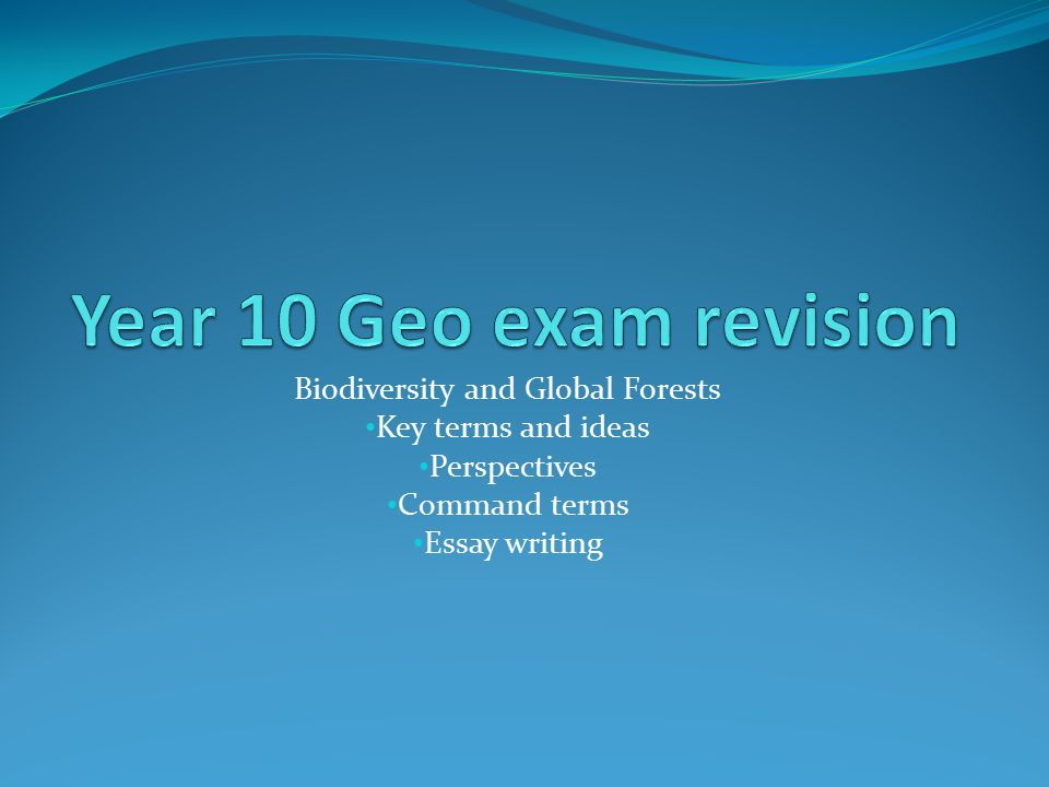 you should know and understand the following> ppt 2 biodiversity and global forests