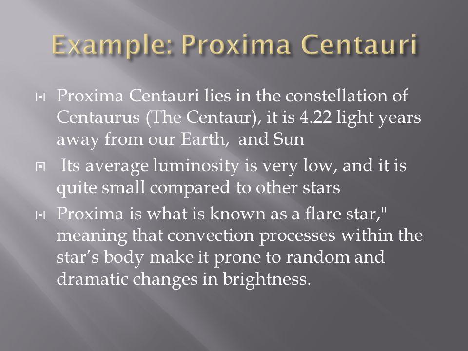 Example: Proxima Centauri