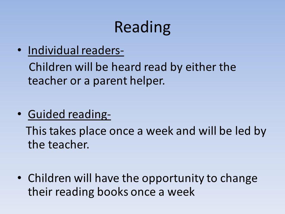 Reading Individual readers-
