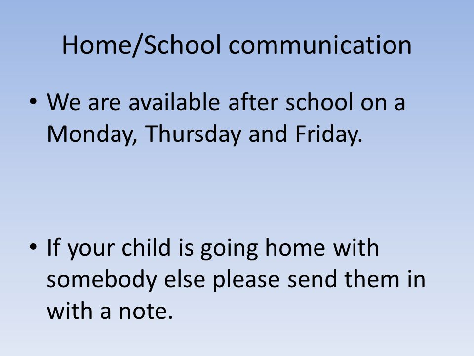Home/School communication
