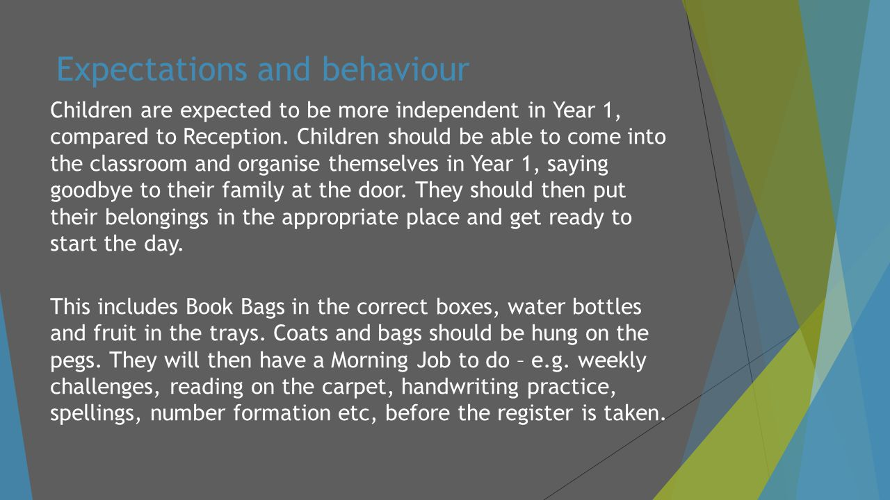 Expectations and behaviour