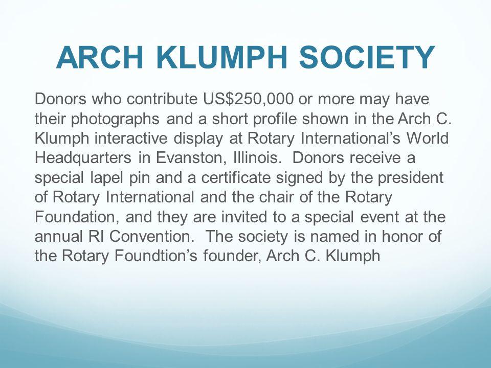ARCH KLUMPH SOCIETY