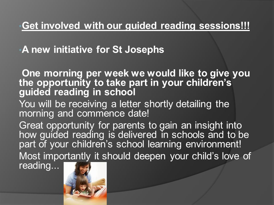Get involved with our guided reading sessions!!!