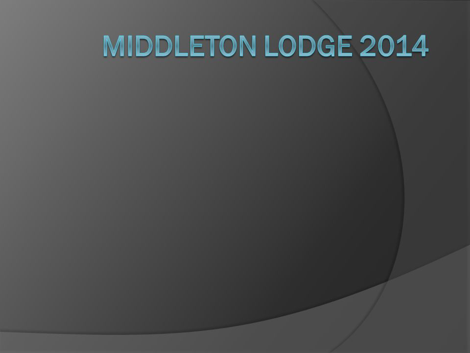 Middleton Lodge 2014