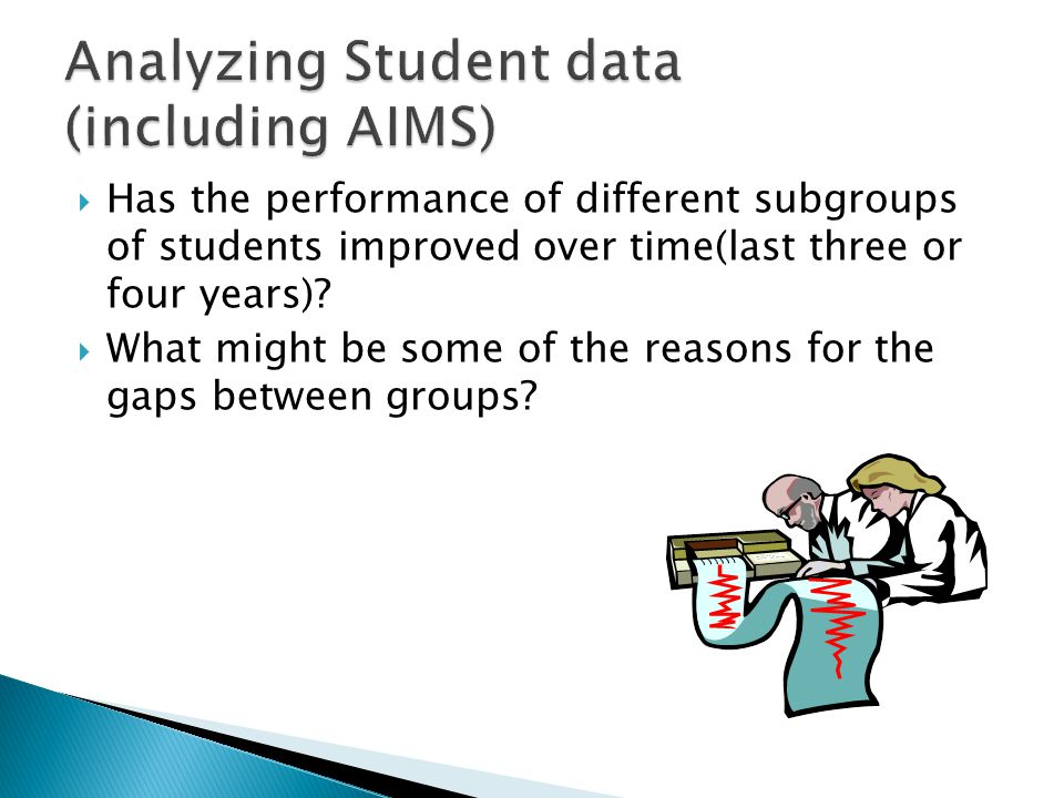 Analyzing Student data (including AIMS)