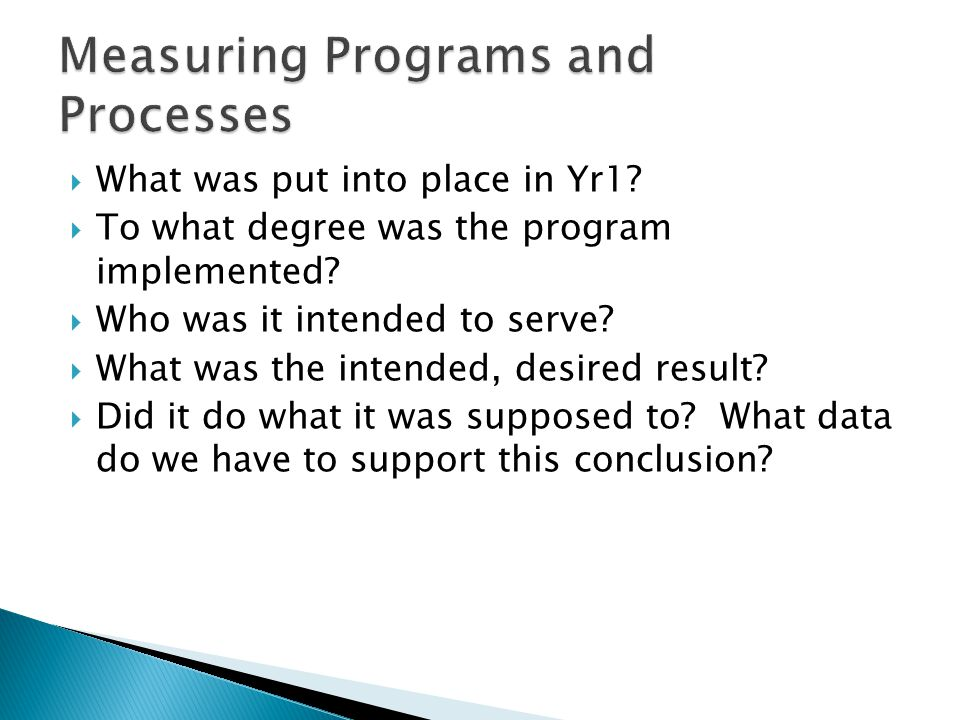Measuring Programs and Processes