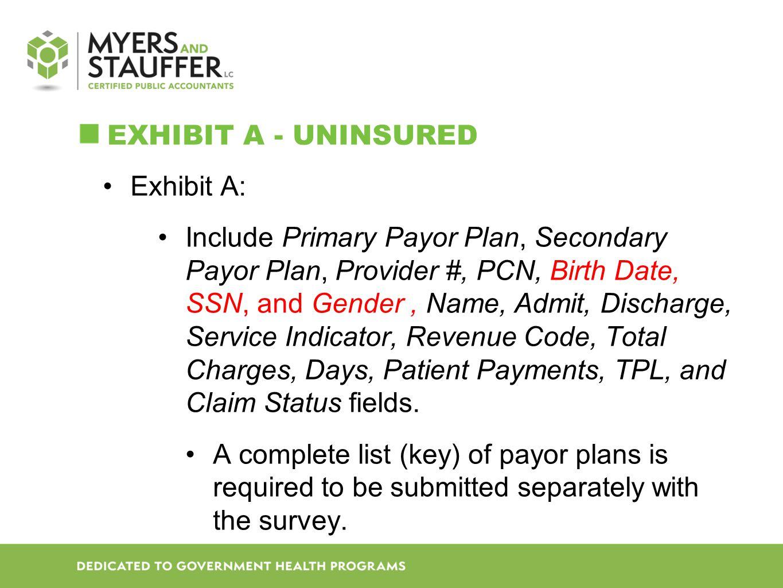 Exhibit A - Uninsured Exhibit A: