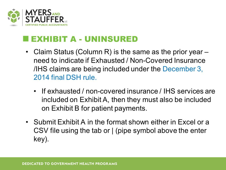 Exhibit A - Uninsured