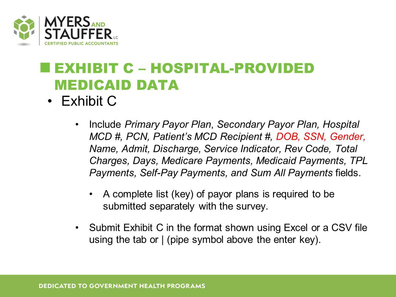 Exhibit C – Hospital-provided Medicaid data