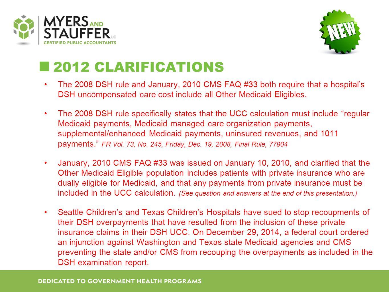 2012 Clarifications