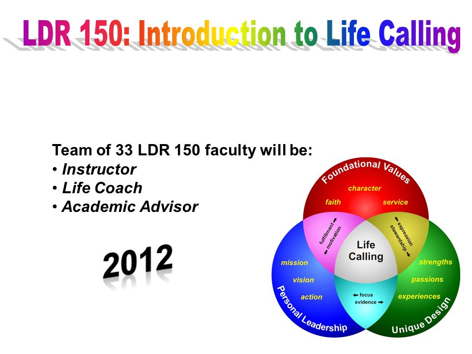 LDR 150: Introduction to Life Calling