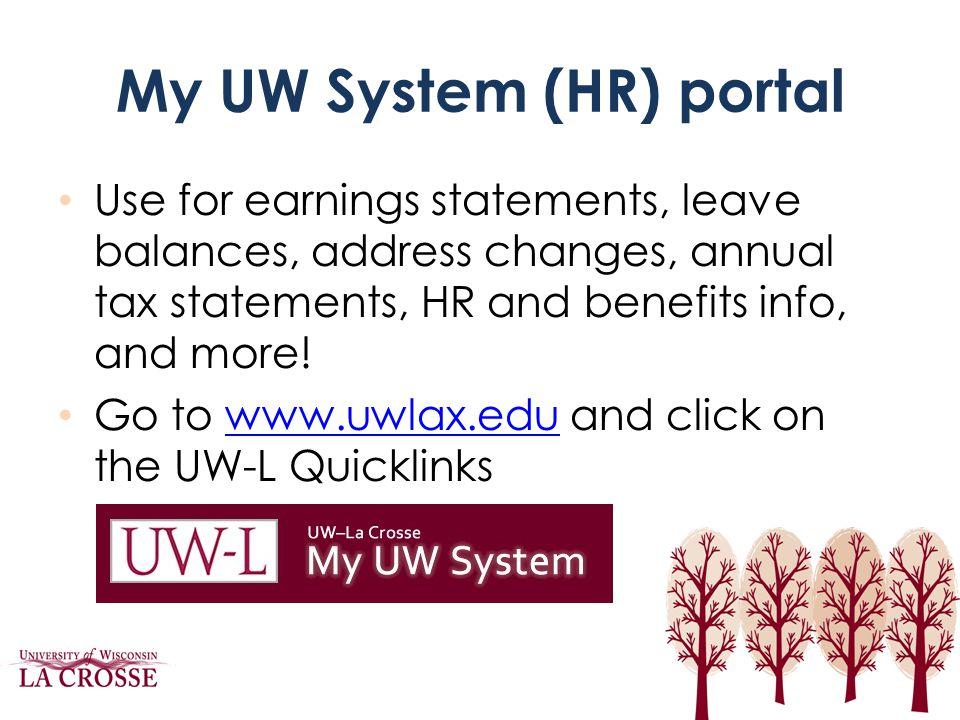 My UW System (HR) portal