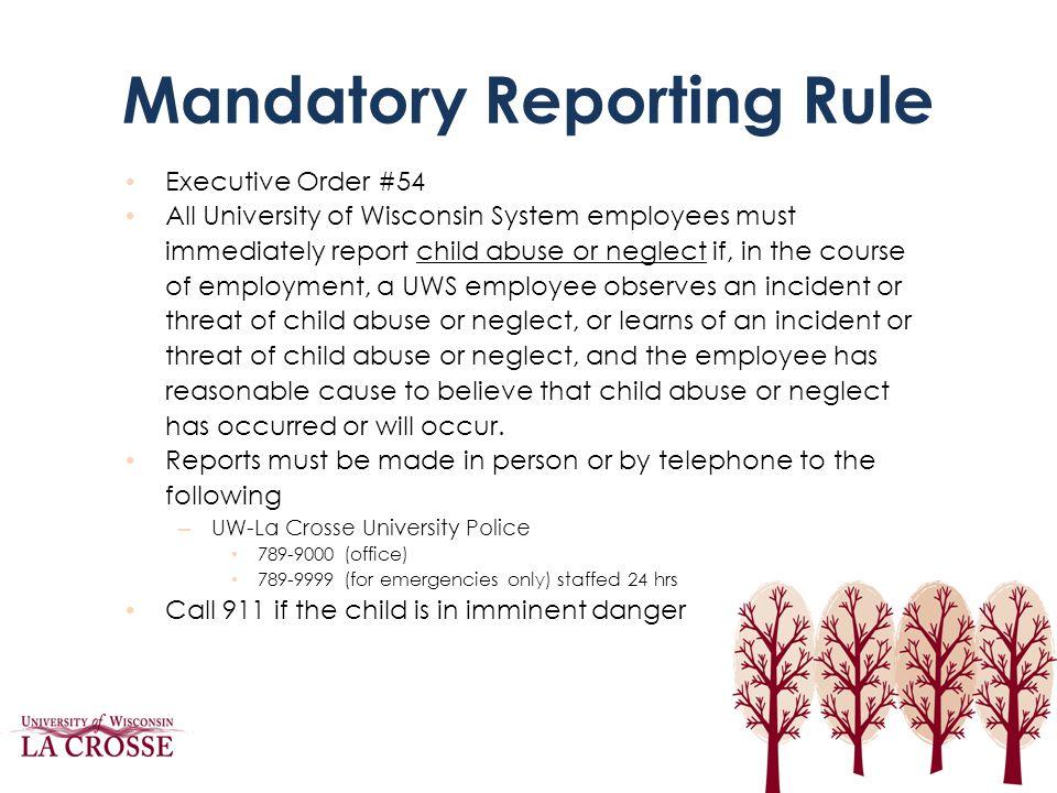 Mandatory Reporting Rule