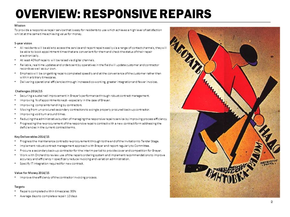 OVERVIEW: RESPONSIVE REPAIRS