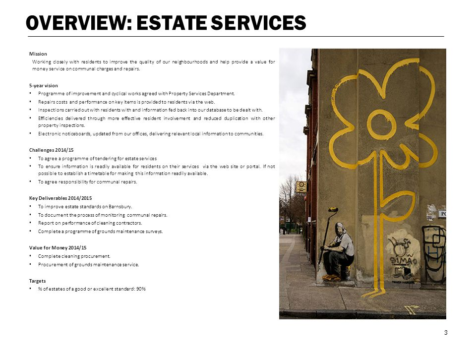 OVERVIEW: ESTATE SERVICES