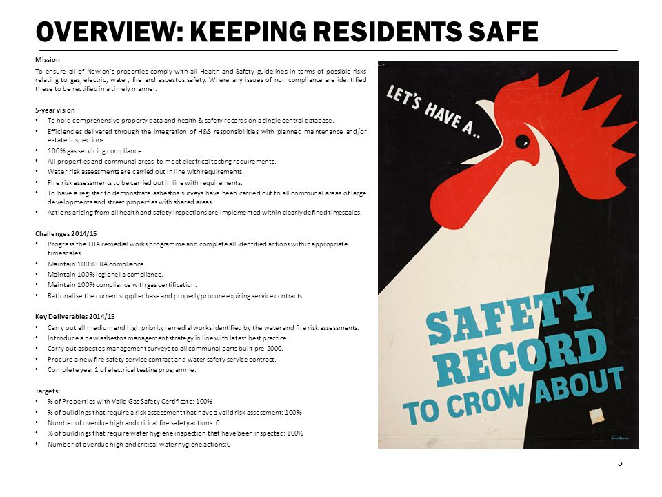 OVERVIEW: KEEPING RESIDENTS SAFE