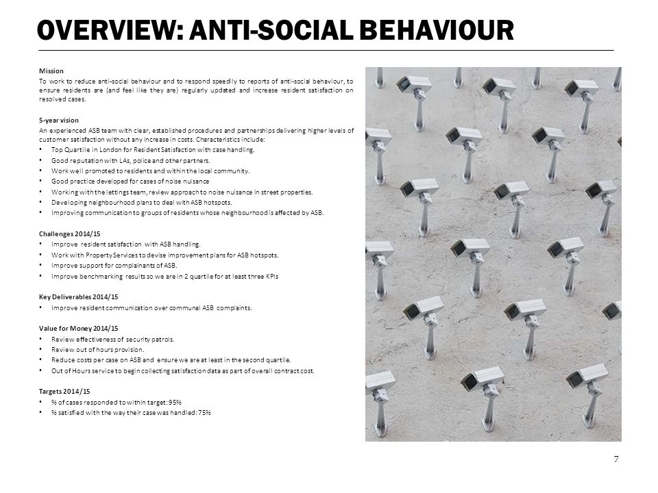 OVERVIEW: ANTI-SOCIAL BEHAVIOUR