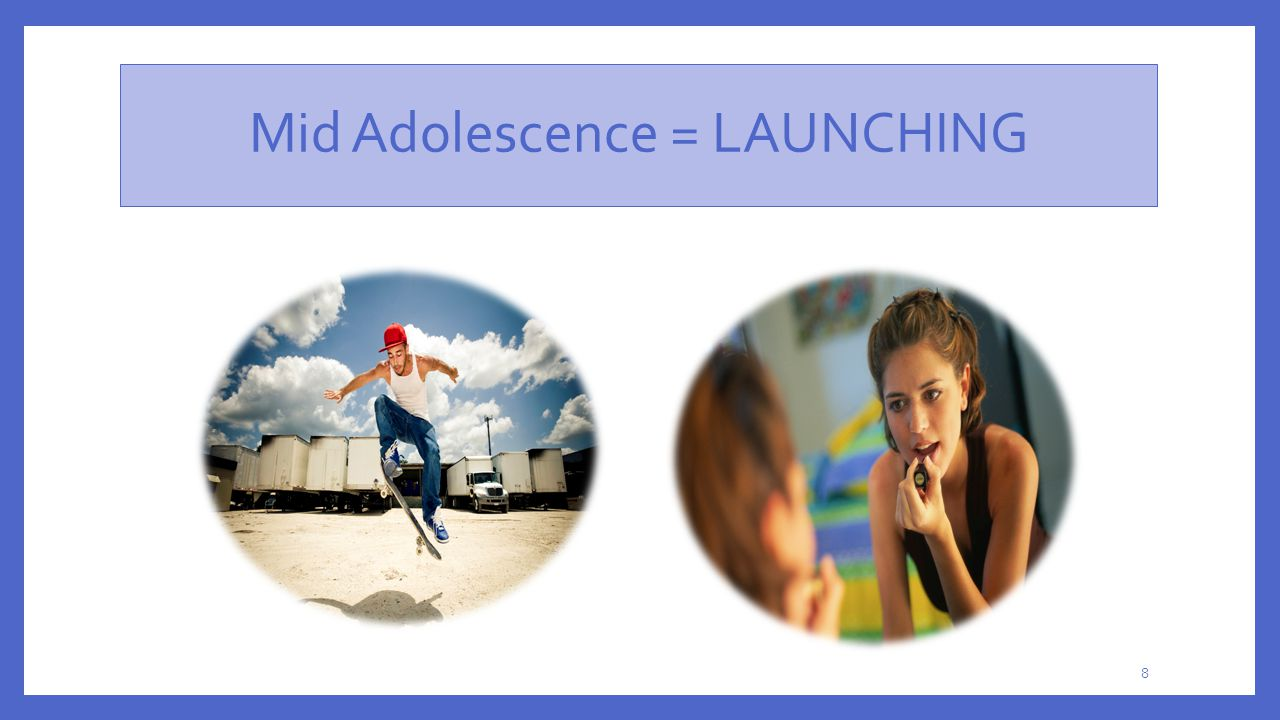Mid Adolescence = LAUNCHING