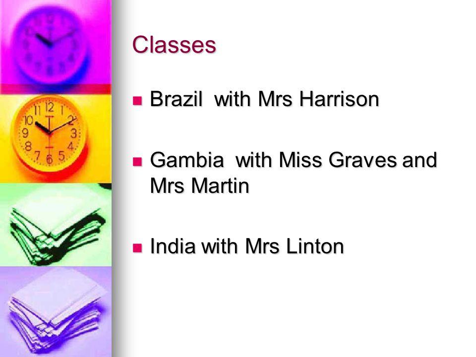 Classes Brazil with Mrs Harrison