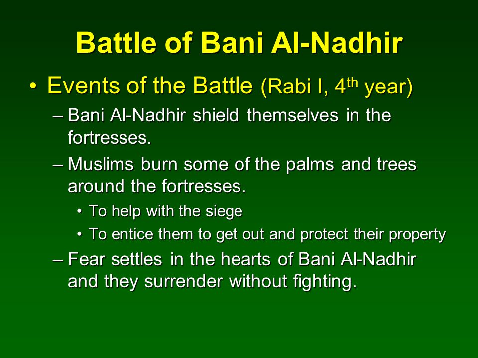 Battle of Bani Al-Nadhir