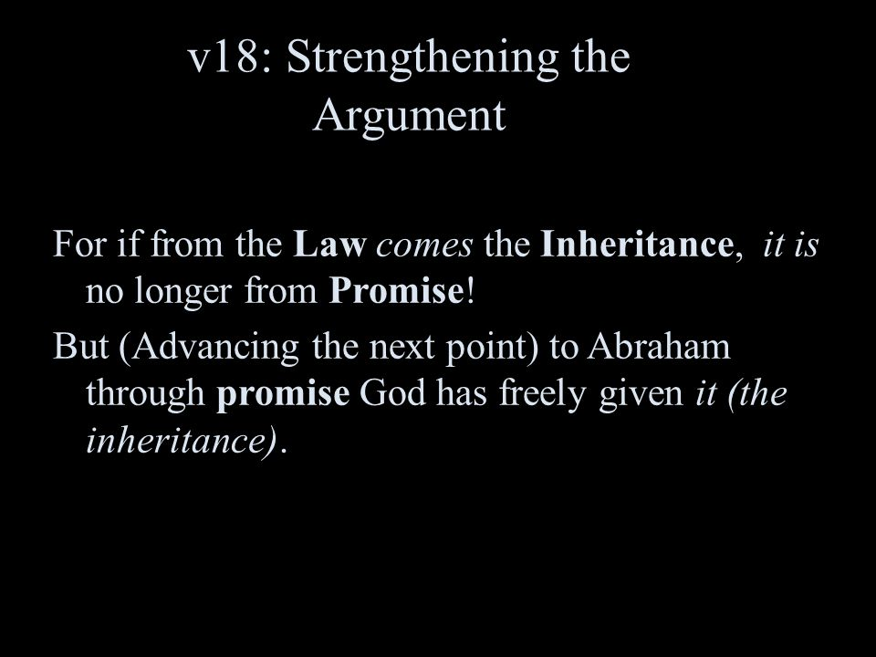 v18: Strengthening the Argument