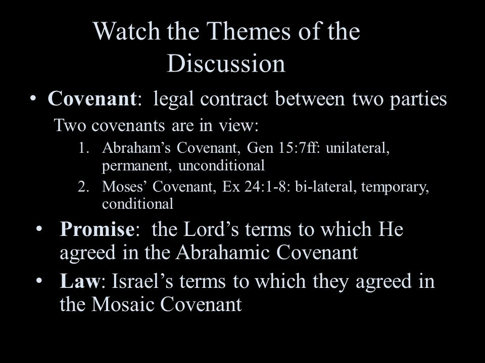Watch the Themes of the Discussion