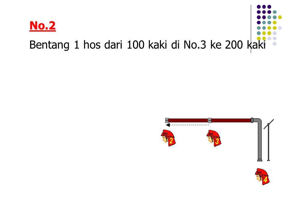 No.2 Bentang 1 hos dari 100 kaki di No.3 ke 200 kaki