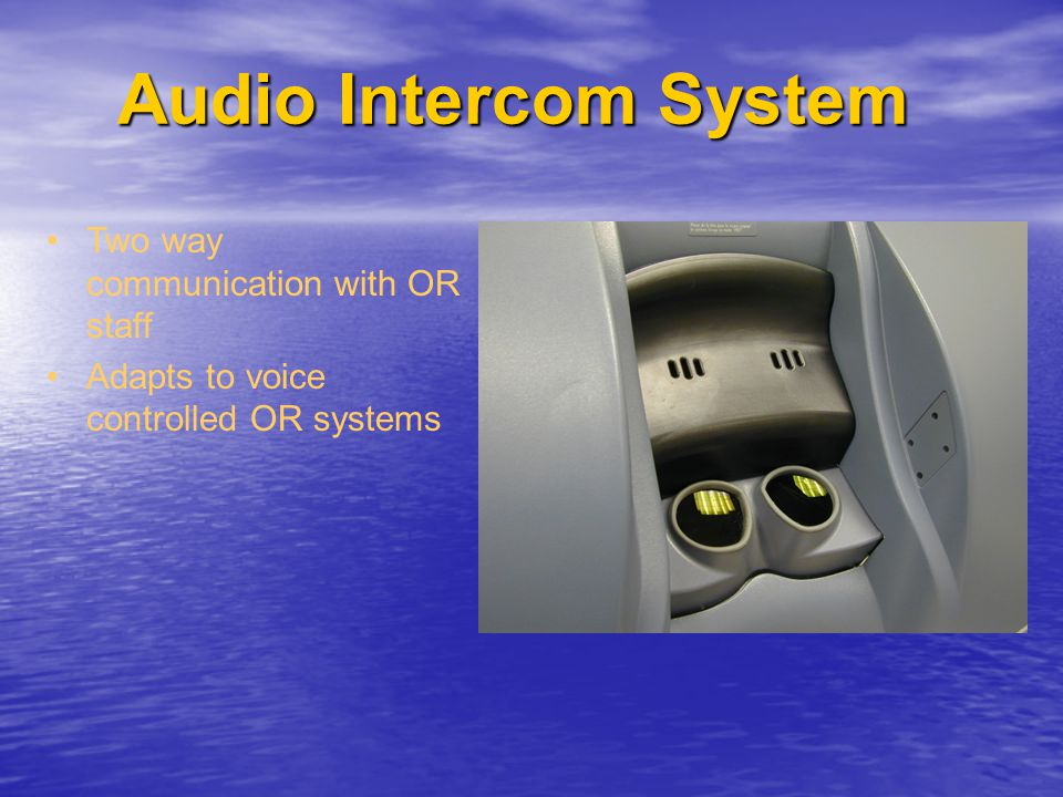 Audio Intercom System Two way communication with OR staff