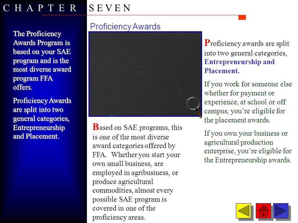 C H A P T E R S E V E N Proficiency Awards.