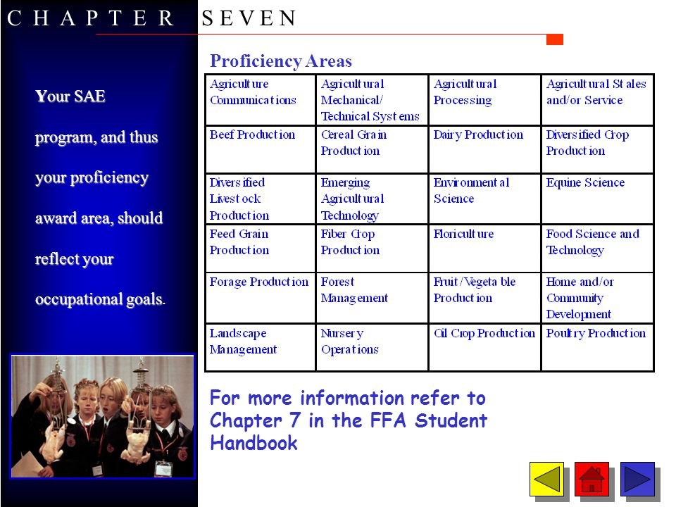 C H A P T E R S E V E N Proficiency Areas