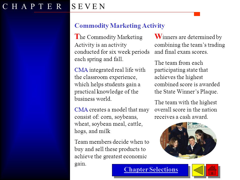 C H A P T E R S E V E N Commodity Marketing Activity.