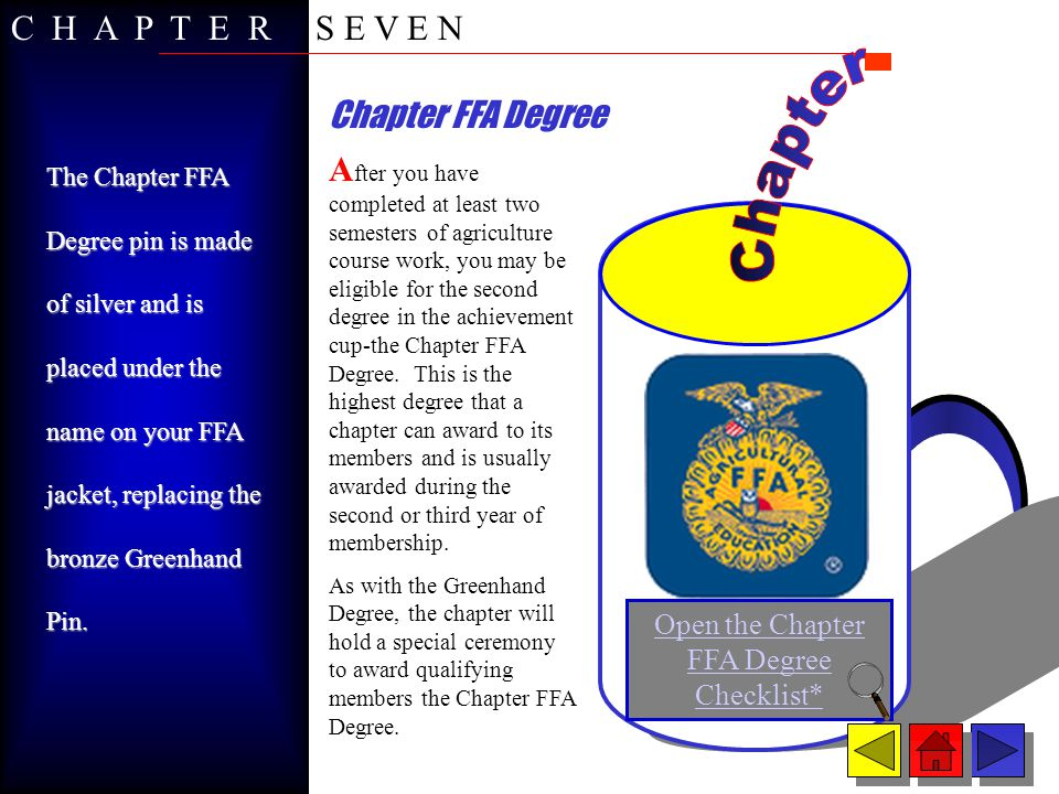 Open the Chapter FFA Degree Checklist*
