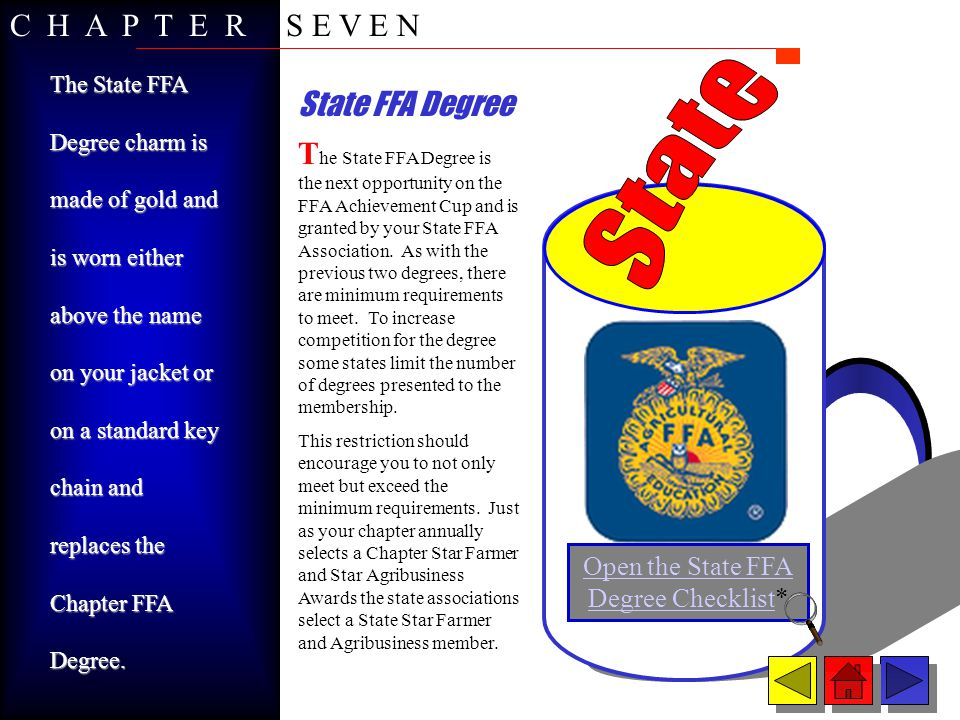 Open the State FFA Degree Checklist*