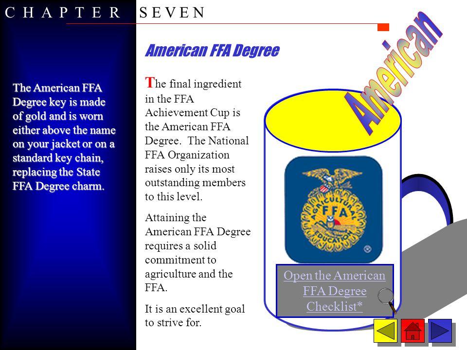 Open the American FFA Degree Checklist*