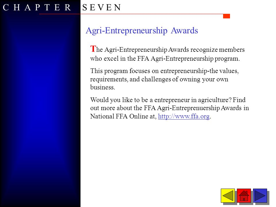 Agri-Entrepreneurship Awards