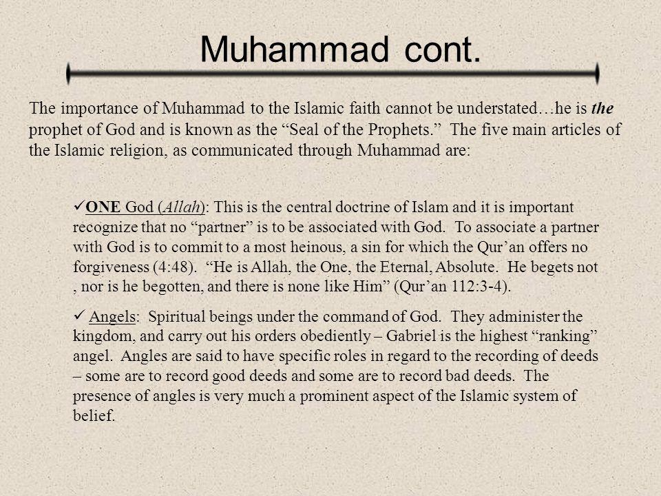 Muhammad cont.