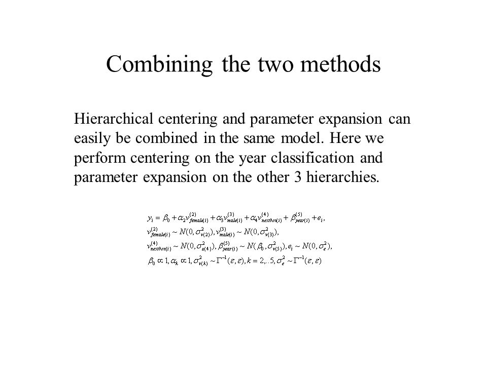 Combining the two methods