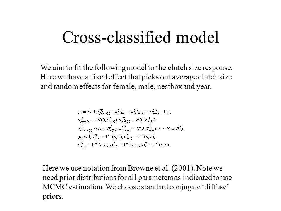 Cross-classified model