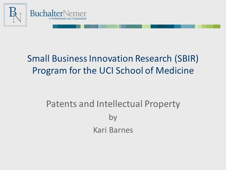 Patents and Intellectual Property by Kari Barnes