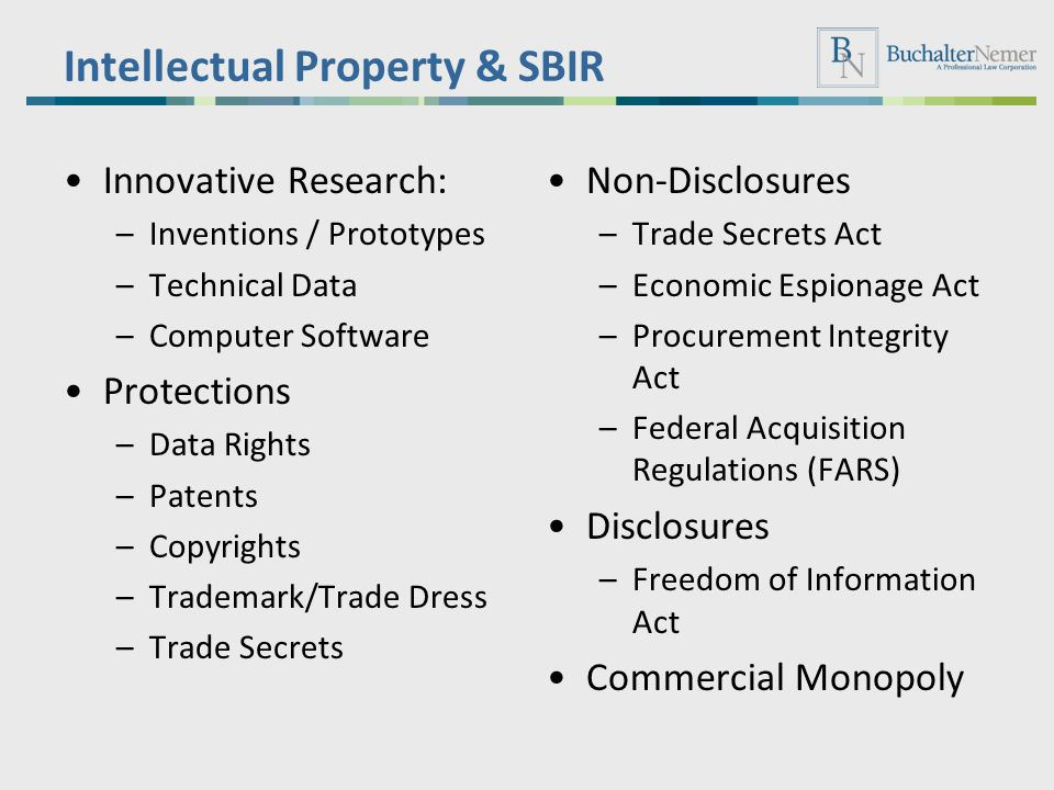 Intellectual Property & SBIR