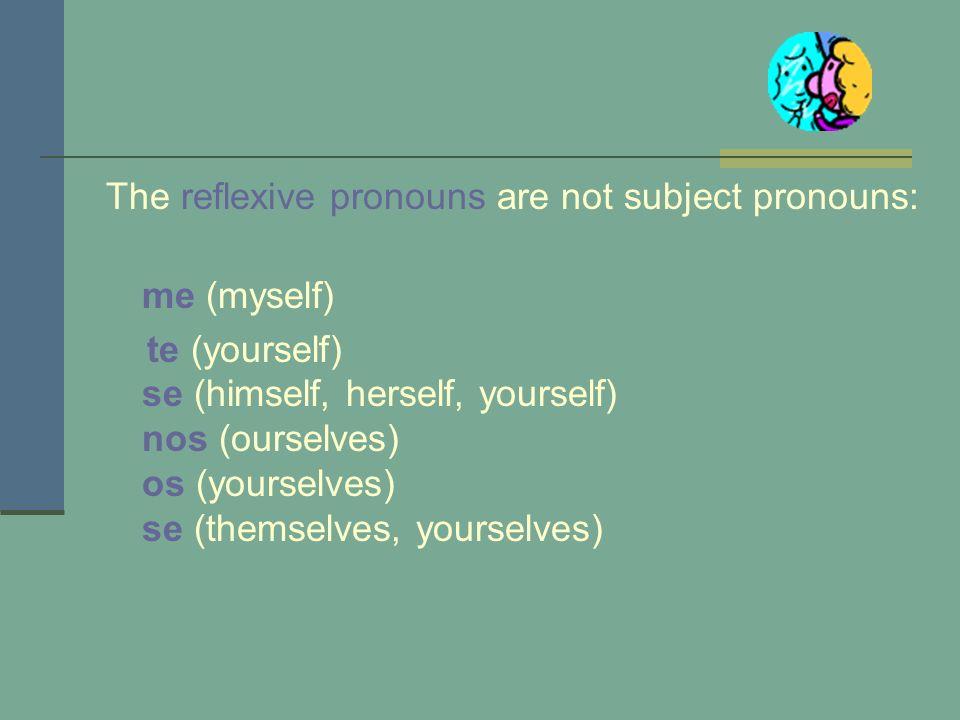 The reflexive pronouns are not subject pronouns:
