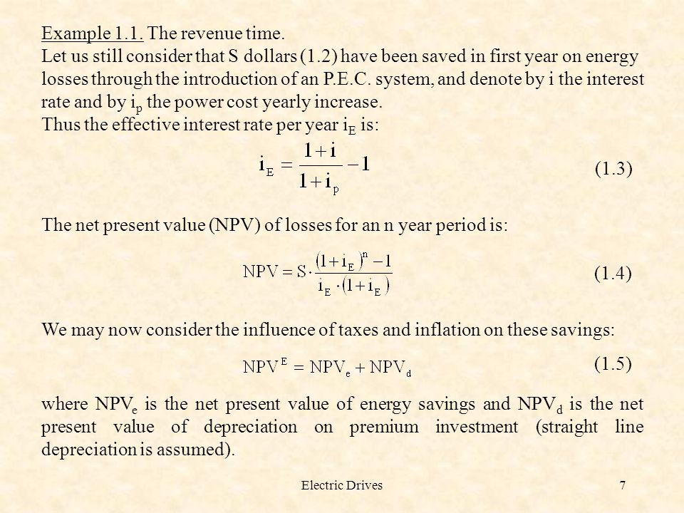 Example 1.1. The revenue time.