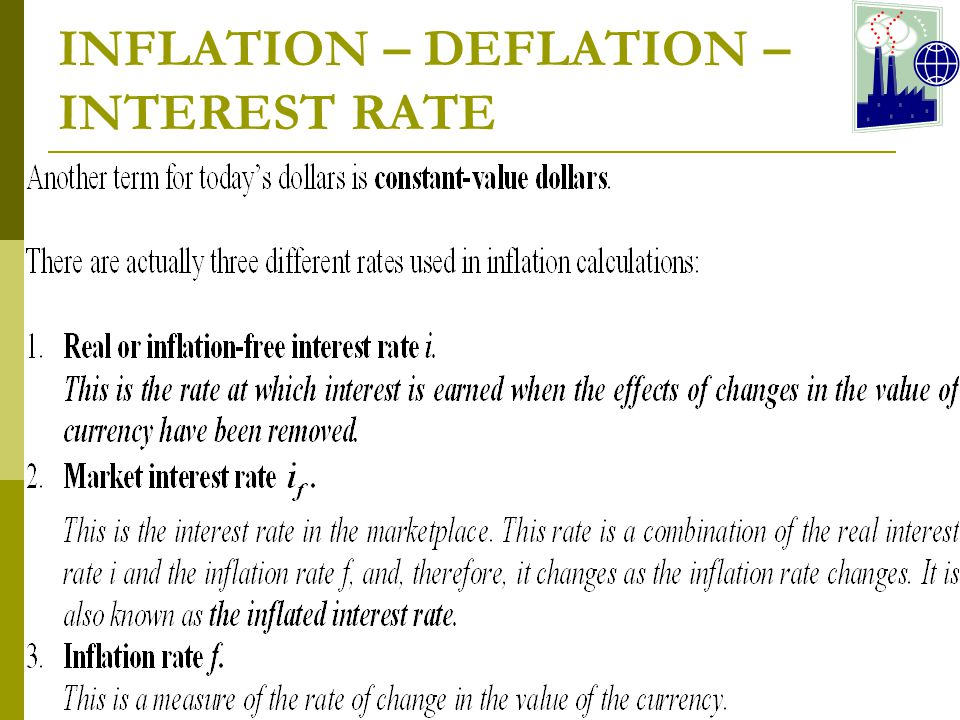 INFLATION – DEFLATION – INTEREST RATE