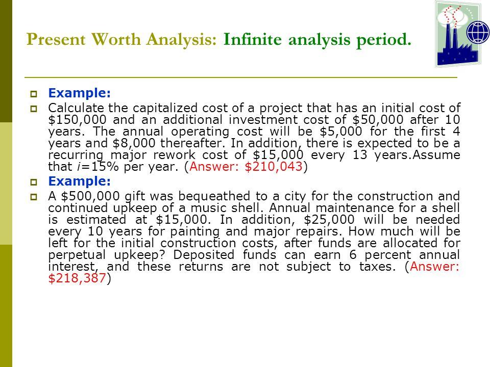 Present Worth Analysis: Infinite analysis period.