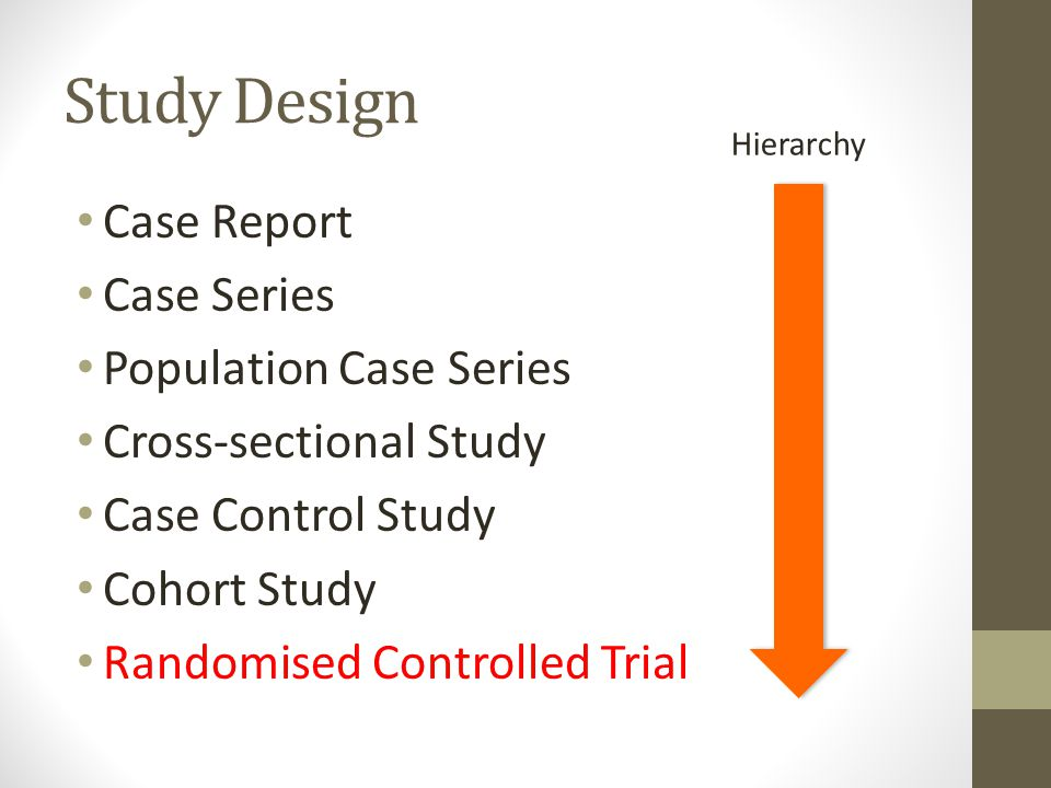 Study Design Case Report Case Series Population Case Series